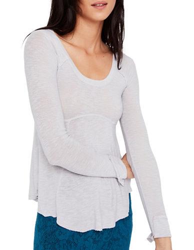 Free People Super Scoop Top-GREY-X-Small