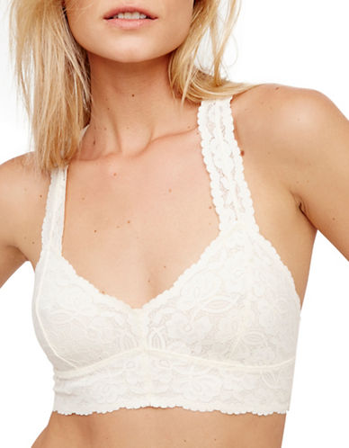 Free People Galloon Lace Racerback Bralette-IVORY-Small