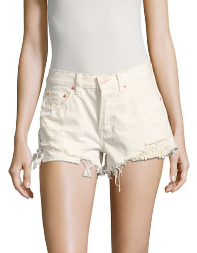 Free People Daisy Chain Lace Shorts-WHITE-30