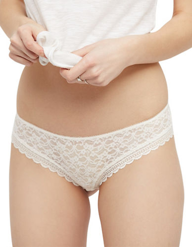 Free People Lace Slim Hipster-IVORY-X-Small