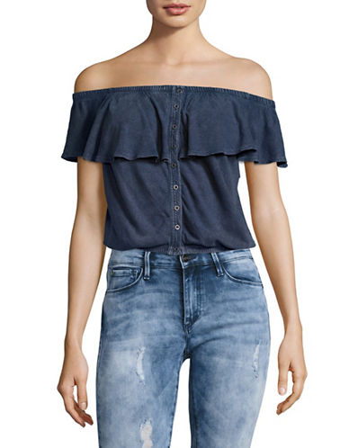 Free People Love Letter Tube Off-the-Shoulder Top-BLUE-X-Small 89150242_BLUE_X-Small