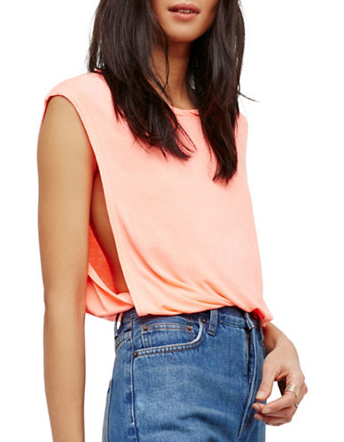 Free People The It Muscle Tank Top-ORANGE-Large