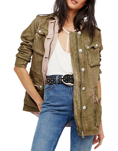 Free People Double Cloth Military Jacket-GREEN-X-Small 89258705_GREEN_X-Small