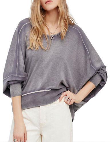 Free People Back it Up Pullover-GREY-Small 89296259_GREY_Small