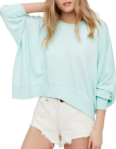 Free People Back it Up Pullover-GREEN-Large