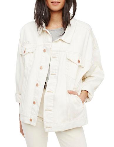 Free People Denim Trucker Jacket-WHITE-Medium/Large 89258538_WHITE_Medium/Large