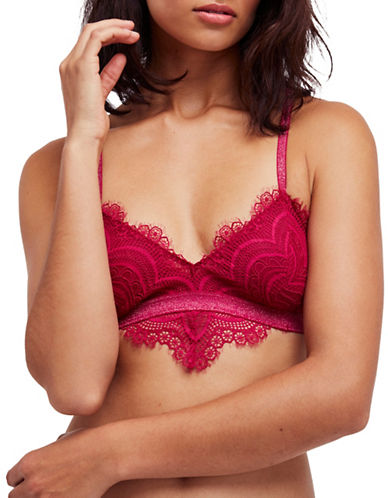 Free People Swept Away Bra-PINK PARFAIT-Small