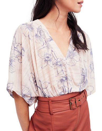 Free People One Dance Blouse-CREAM MULTI-Medium