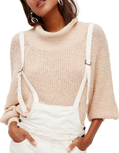 Free People Edessa Sweater-NATURAL-Medium