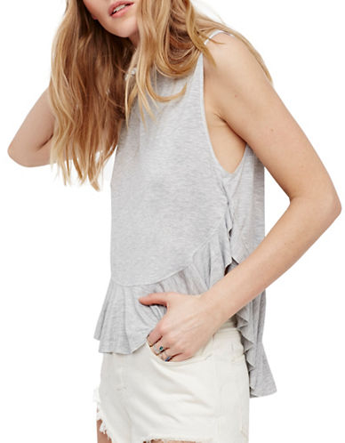 Free People Uptown Hi-Lo Tank-GREY-Small 89296295_GREY_Small
