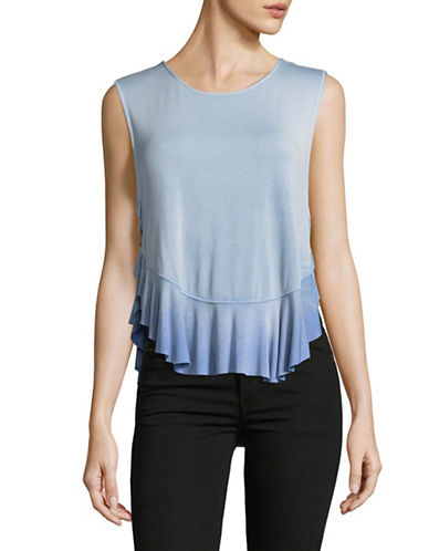 Free People Uptown Hi-Lo Tank-BLUE-X-Small