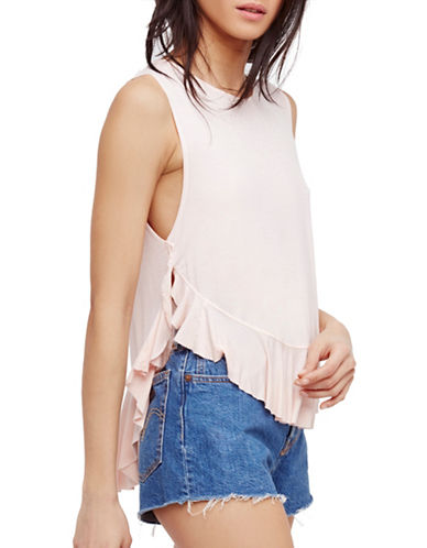 Free People Uptown Hi-Lo Tank-ROSE-X-Small