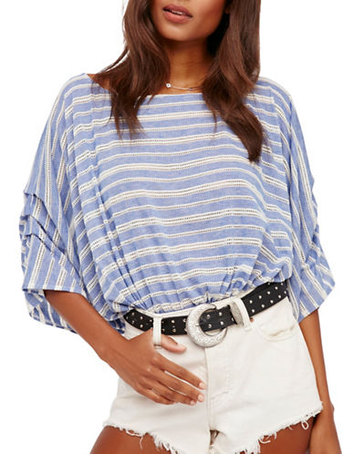 Free People Azelea Dolman Sleeve Top-BLUE MULTI-X-Small