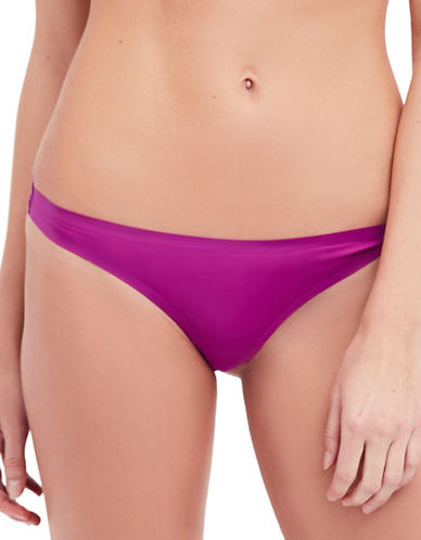 Free People No-Show Lace Thong-PLUM-Small