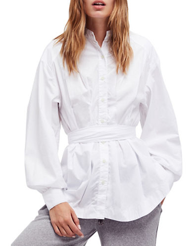 Free People Abbey Cotton Tunic-WHITE-Small
