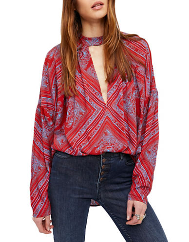 Free People Walking on a Dream Tunic-RED-X-Small