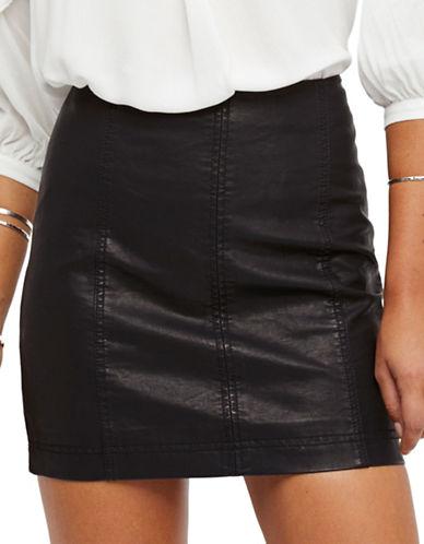 Free People Modern Femme Vegan Mini Skirt-BLACK-8
