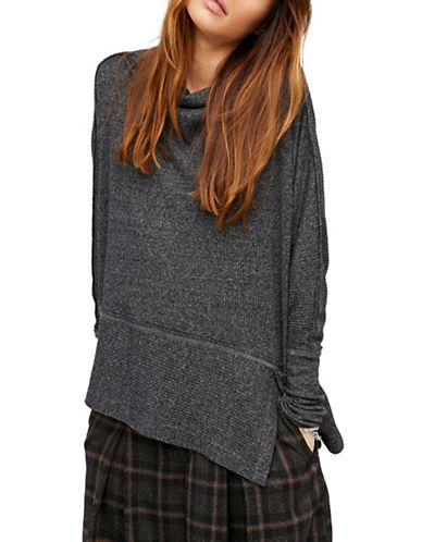 Free People London Town Thermal Top-BLACK-Large