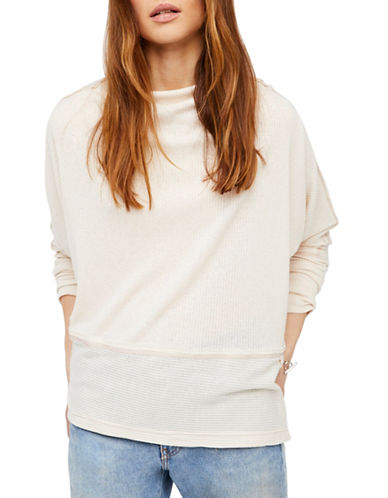 Free People London Town Thermal Top-BEIGE-Small