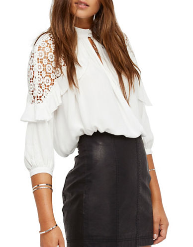 Free People Little Bit of Love Top-WHITE-Large