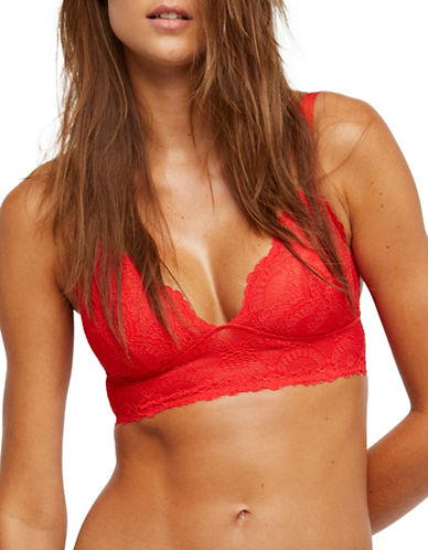 Free People Let Me Kiss You Soft Bra-RED-Medium