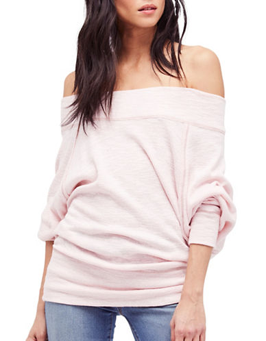 Free People Thermal Rose Off-Shoulder Top-ROSE-Medium