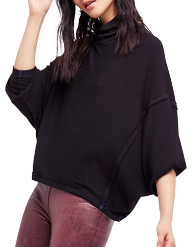 Free People Alameda Pullover Top-BLACK-Small