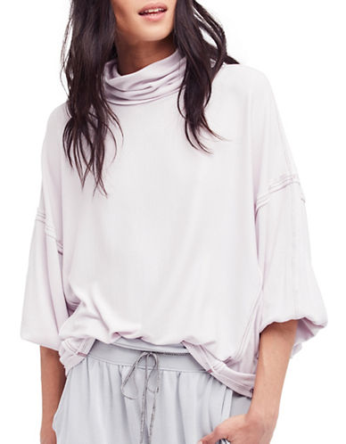 Free People Alameda Pullover Top-PURPLE-X-Small