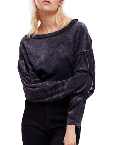 Free People Milan Layering Long-Sleeve Top-GREY-X-Small