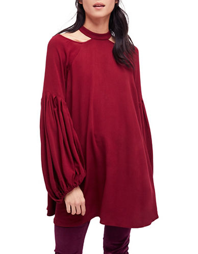 Free People Drift Away A-Line Top-RED-Medium
