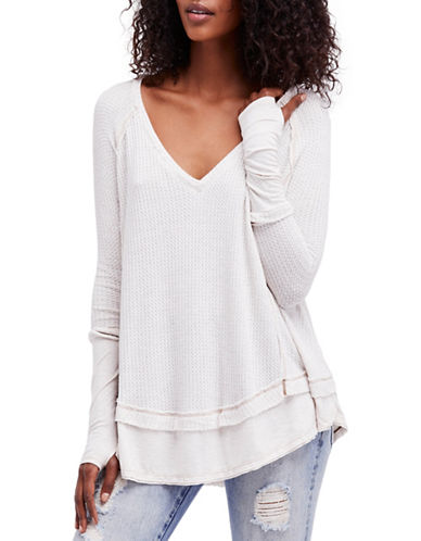 Free People Laguna Thermal Top-WHITE-Medium