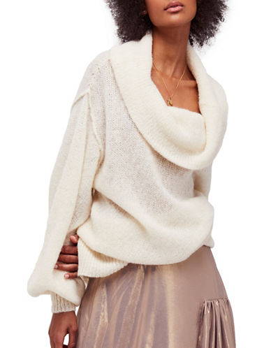 Free People Ophelia Cowl Sweater-IVORY-Large