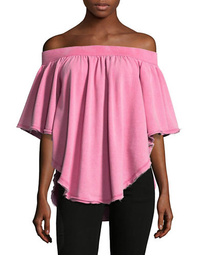 Free People New Kiss Me Tube Cold-Shoulder Top-PINK-Medium
