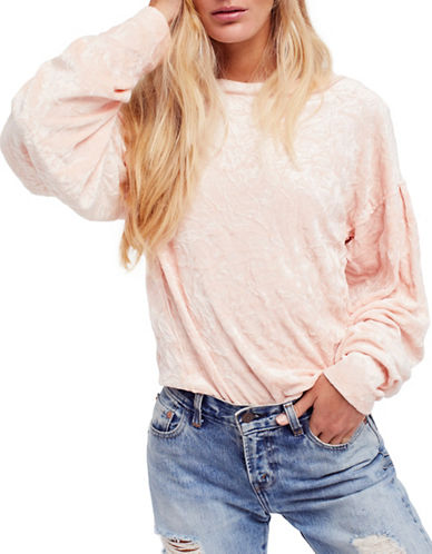 Free People Milan Layering Long-Sleeve Top-PINK-Large