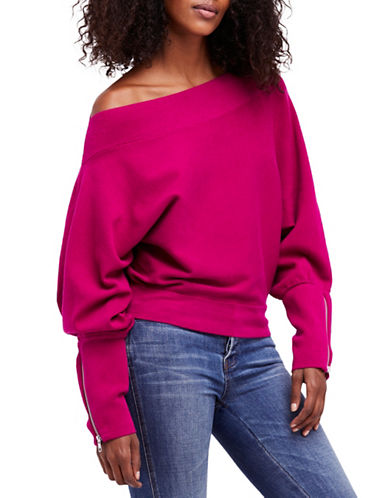 Free People Hide and Seek Slouchy Sweater-PINK-Medium