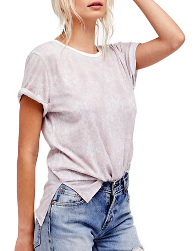 Free People Print Me Perfect Tee-IVORY-Small