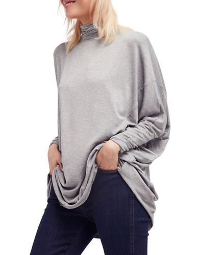 Free People Dolman Sleeves Turtleneck-GREY-X-Small