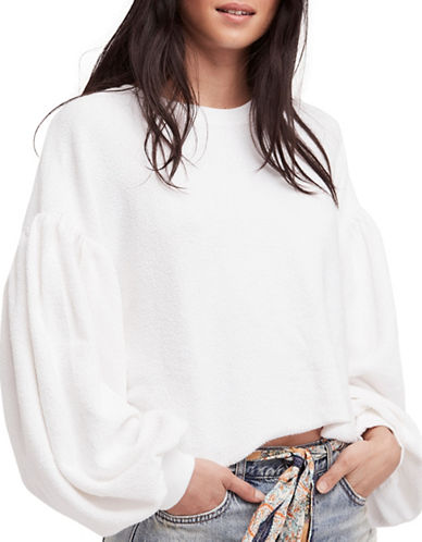 Free People Sleeves Like These Pullover-WHITE-Large