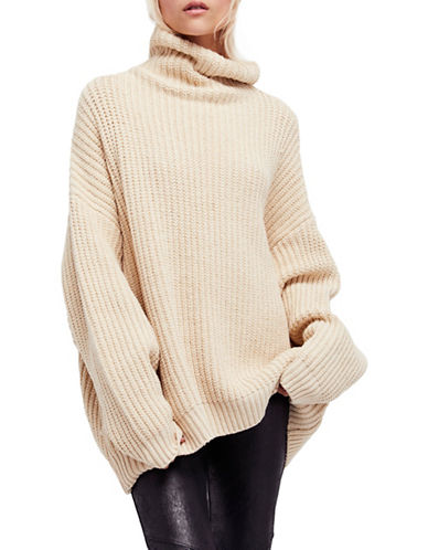 Free People Swim Too Deep Batwing Pullover-NATURAL-Large