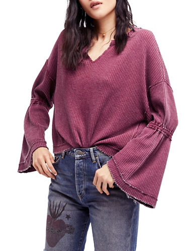 Free People Dahlia Thermal-RED-Large