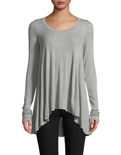 Free People January Long-Sleeve Tee-GREY-Small