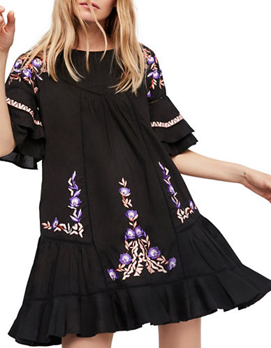 Free People Pavlo Dress-BLACK-X-Small