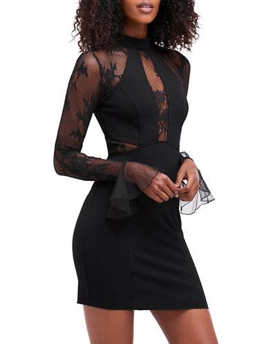 Free People Its Now Or Never Mini Dress-BLACK-Medium
