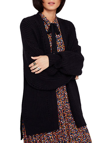 Free People Oversized Knit Cardigan-BLACK-Medium 89682382_BLACK_Medium