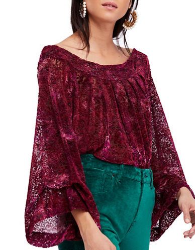 Free People Burnout Off-the-Shoulder Top-RED-Medium 89682390_RED_Medium