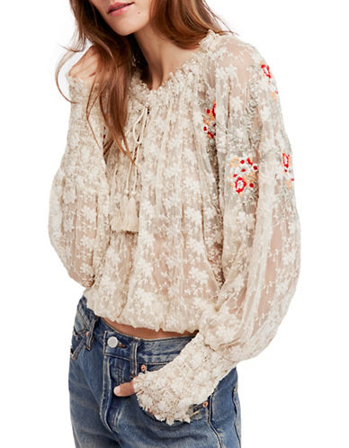 Free People Jubilee Blouse-IVORY-Large