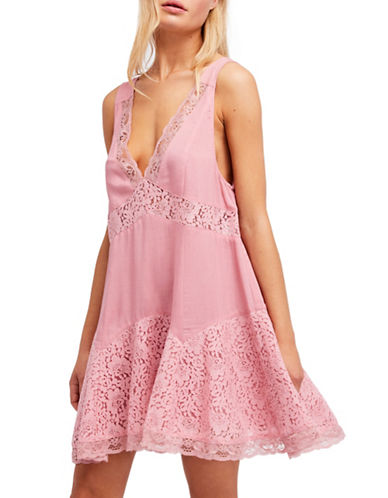 Free People Any Party Trapeze Slip-PINK-Small