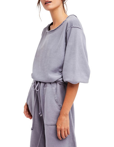 Free People Oversized Sunset Sweatshirt-GREY-Medium
