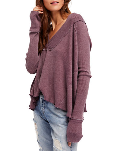 Free People Oceanview Top-PURPLE-X-Small