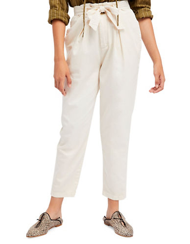Free People Hi-Waisted Pegged 90s Pant-BEIGE-2
